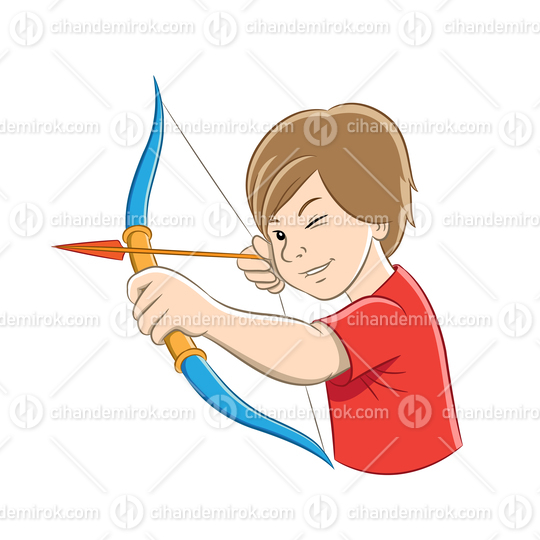 Archer Boy with Colorful Outlines