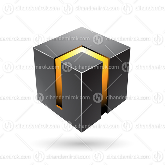 Black and Yellow 3d Bold Cube