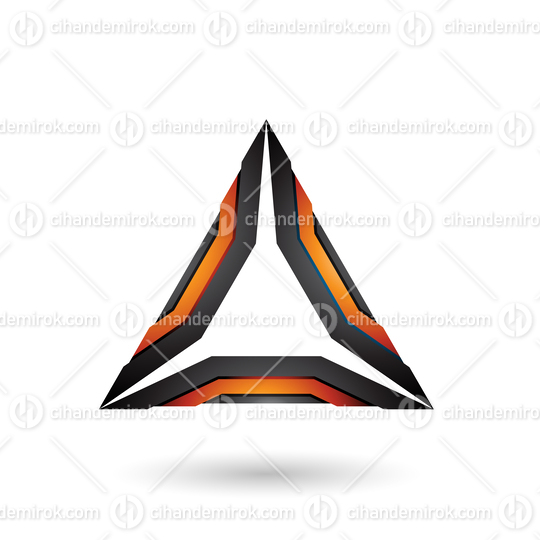 Orange and Black Mechanic Triangle Vector Illustration