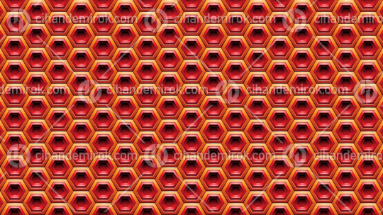 Orange and Red Embossed Hexagon Background Vector Illustration