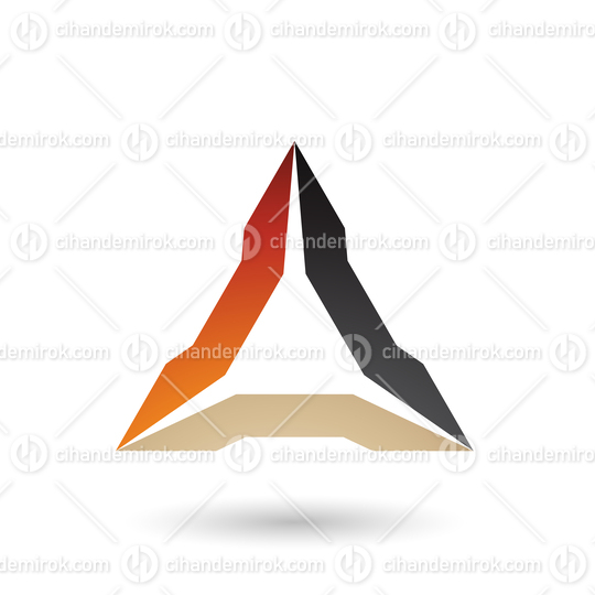 Orange Beige and Black Spiked Triangle Vector Illustration