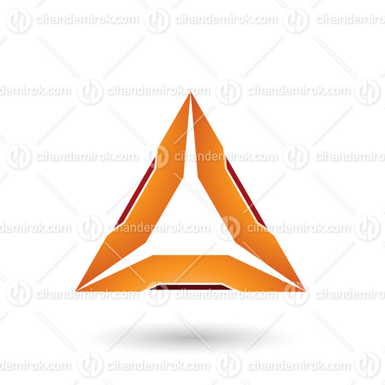 Orange Triangle with Red Edges Vector Illustration