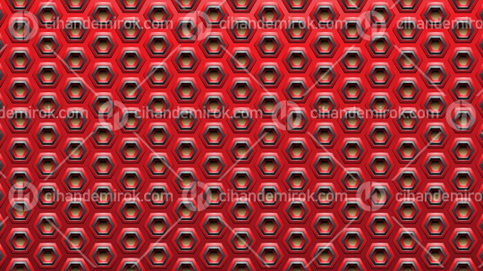 Red and Black Embossed Spaced-out Hexagon Background
