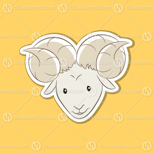 Sticker of Aries Zodiac Sign