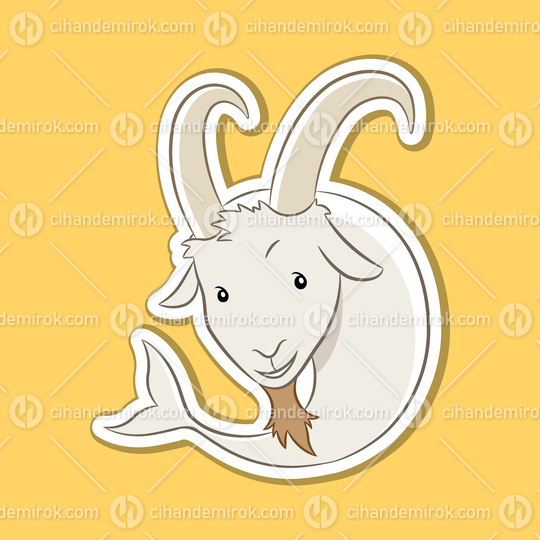 Sticker of Capricorn Zodiac Sign