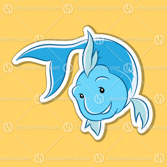 Sticker of Pisces Zodiac Sign