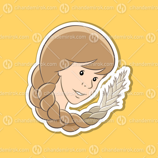 Sticker of Virgo Zodiac Sign