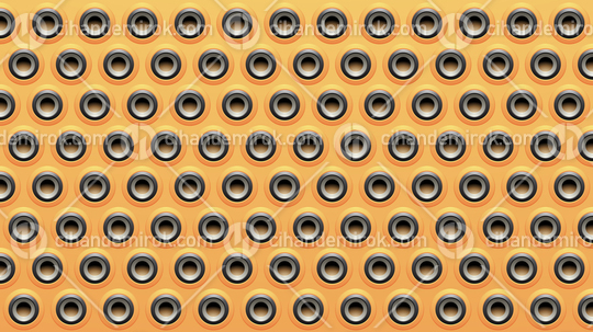 Yellow Black and Grey Embossed Round Loudspeaker Background